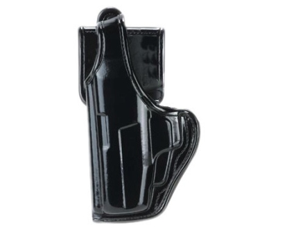 Bianchi 7920 AccuMold Elite Defender 2 Holster Left Hand Glock 17, 22 Nylon High-Gloss Black