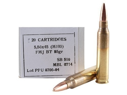 Prvi Partizan Ammunition 5.56x45mm NATO 55 Grain M193 Full Metal Jacket