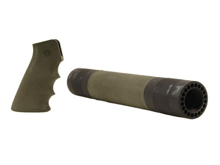 Hogue OverMolded Pistol Grip and Free Float Tube Handguard AR-15 Rifle Length Rubber Olive Drab