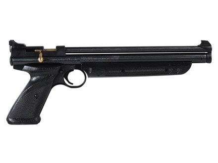 Crosman PC77 Pumpmaster Air Pistol .177 Caliber Pump Single Shot Black Zinc Alloy Brown