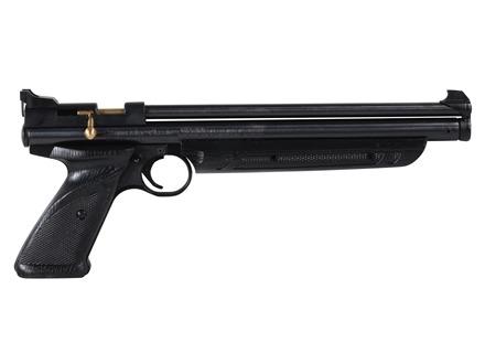 Crosman PC77 Pumpmaster Air Pistol 177 Caliber Pelllet Pump Single Shot Black Zinc Alloy Brown