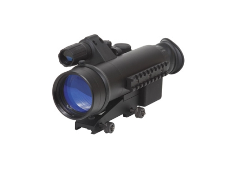 Sightmark Night Raider 1st Generation Night Vision Rifle Scope 2.5x 50mm Illuminated Red on Green Duplex Reticle with Integral Weaver-Style Mount Matte