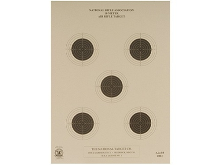 NRA Official Air Rifle Target AR-5/5 10 Meter Air Rifle Paper Package of 100