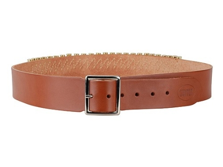 "Hunter Cartridge Belt 2"" 38 Caliber 25 Loops Leather Brown Large"