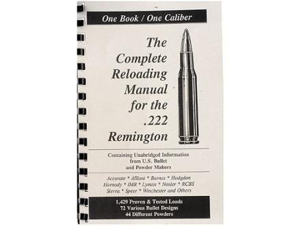 "Loadbooks USA ""222 Remington"" Reloading Manual"