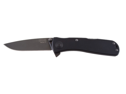 "SOG Twitch II Assisted Opening Folding Knife 2.68"" Drop Point AUS-8 Stainless Steel Blade Aluminum Handle"