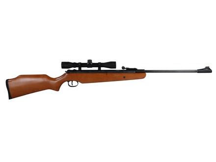Ruger Air Hawk Air Rifle 177 Caliber Pellet Wood Stock Blue Barrel with Scope 4x32mm Factory Reconditioned