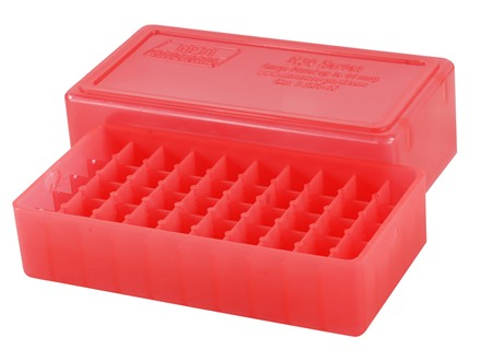 MTM Slip-Top Ammo Box Square-Hole 10mm Auto, 41 Remington Magnum, 44 Remington Magnum 50-Round