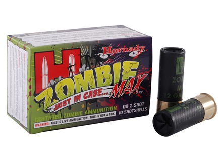 "Hornady Zombie Max Ammunition 12 Gauge 2-3/4"" Buffered 00 Buckshot Box of 10"