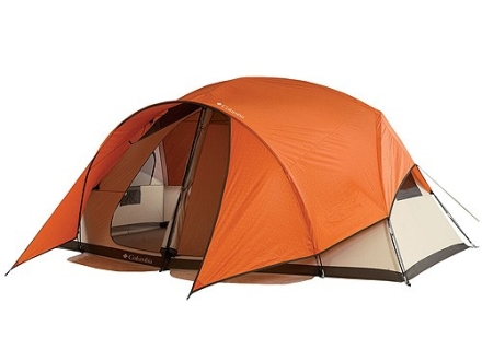 "Columbia High Trail Tent 15' x 11' x 78"" Polyester Persimmon, Gator and Fossil"
