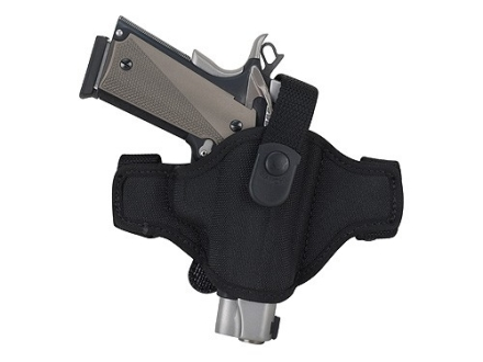 Bianchi 7506 AccuMold Belt Slide Holster Right Hand Glock 17, 19, 22, 23, 26, 27, 34, 35, Taurus PT145, PT24/7 Nylon Black
