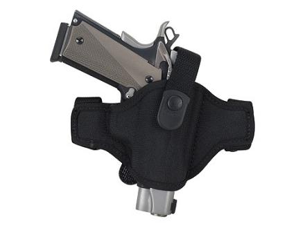 Bianchi 7506 AccuMold Belt Slide Holster Right Hand Glock 17, 19, 22, 23, 26, 27, 34, 35, Taurus PT145, PT24/7 Nylon Black