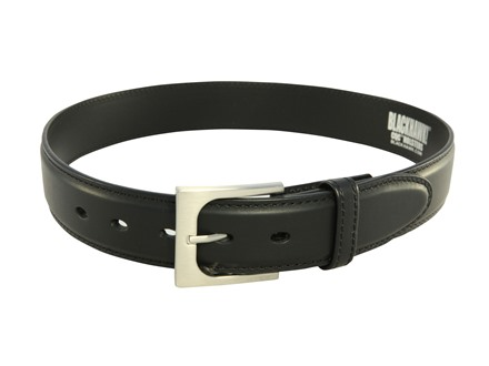 "Blackhawk CQC Pistol Belt 1-1/2"" Reinforced Black Leather"