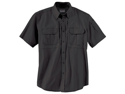 "Woolrich Elite Lightweight Operator Shirt Short Sleeve Cotton Black XL (46"" to 48"")"