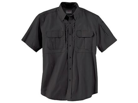 """Woolrich Elite Lightweight Operator Shirt Short Sleeve Cotton Black XL (46"""" to 48"""")"""
