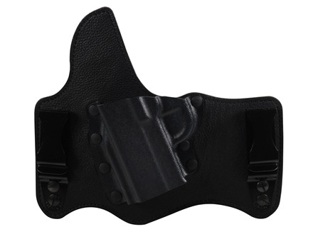 Galco King Tuk Tuckable Inside the Waistband Holster Left Hand 1911 Officer, Micro Leather and Kydex Black