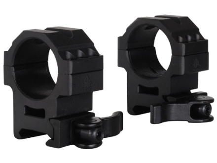 Leapers UTG 30mm Max Strength Tactical 6-Hole Quick Detachable Picatinny-Style Rings Matte Medium
