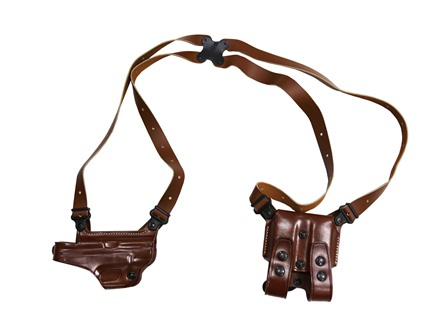 "Galco Miami Classic Shoulder Holster System Right Hand Smith & Wesson M&P 3""-5"" Barrel 9mm, 40 S&W Leather Tan"