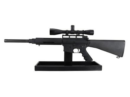 Plastix Plus AR-15 Display Stand with Parts Tray Plastic Black