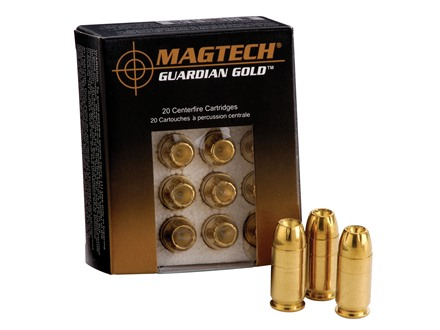 Magtech Guardian Gold Ammunition 9mm Luger 124 Grain Jacketed Hollow Point