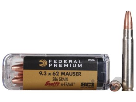 Federal Premium Cape-Shok Ammunition 9.3x62mm Mauser 286 Grain Swift A-Frame Box of 20