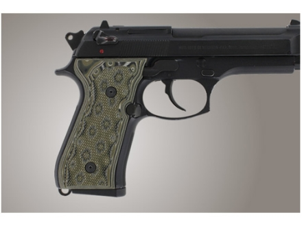 Hogue Extreme Series Grip Beretta 92F, 92FS, 92SB, 96, M9 Checkered G-10 OD Green Camo