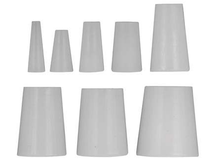 Lauer Barrel Plugs Assorted Sizes Silicone Package of 25