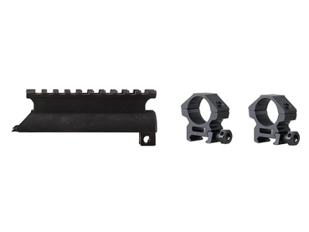 "Leapers UTG 3rd Generation High-Profile See-Thru Picatinny-Style Mount with 1"" Tactical Rings SKS Matte"
