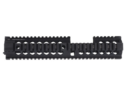 Midwest Industries Gen 2 Free Float 2-Piece Handguard Quad Rail AR-15 Extended Carbine Length Aluminum Black