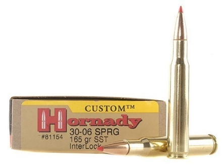 Hornady Custom Ammunition 30-06 Springfield 165 Grain SST Box of 20