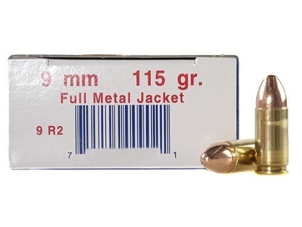 Ultramax Remanufactured Ammunition 9mm Luger 115 Grain Full Metal Jacket