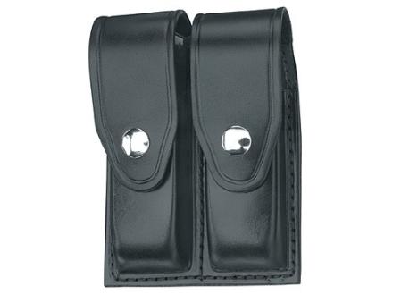 Gould & Goodrich B627 Double Magazine Pouch Glock 17, 19, 22, 23, 31, 32, 34, 35, 36, HK USP 9 Compact, USP 357 Compact, USP 40 Compact, USP 45 Compact, USP 9, USP 40 Leather Black