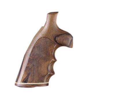 Hogue Fancy Hardwood Grips with Accent Stripe, Finger Grooves and Contrasting Butt Cap Ruger Speed Six Checkered Pau Ferro