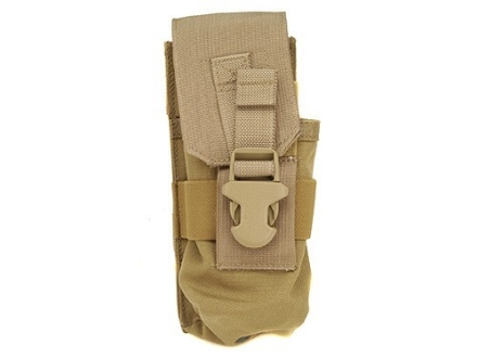 Buffer Technologies MagCinch Double Magazine Pouch 30-Round AR-15 MOLLE Compatible Nylon Tan