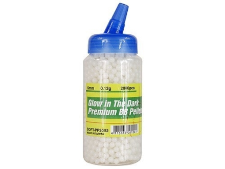 UTG Airsoft BBs 6mm .12 Gram Glow in the Dark Bottle of 2,000