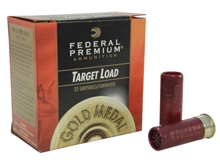 "Federal Premium Gold Medal Ammunition 12 Gauge 2-3/4"" 1 oz #7-1/2 Shot"