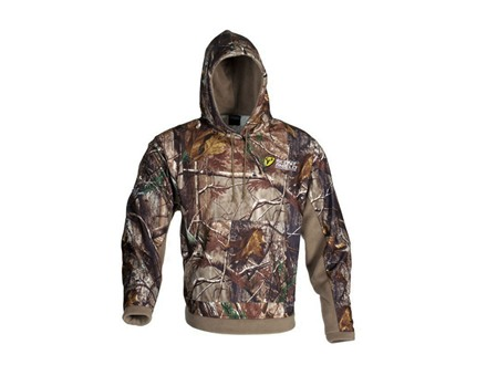 ScentBlocker Men's Bone Collector Fleece Hooded Sweatshirt Polyester Realtree AP Camo Large 42-44