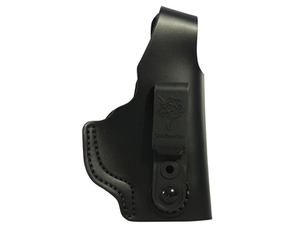 DeSantis Dual Carry II Inside/Outside the Waistband Holster Smith & Wesson M&P 9, 40 Shield Right Hand Leather Black