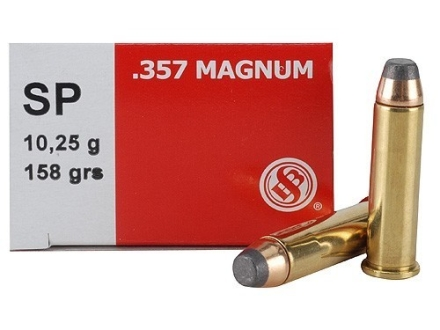 Sellier & Bellot Ammunition 357 Magnum 158 Grain Soft Point Box of 50