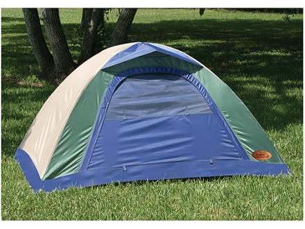 "Texsport Brookwood Internal Frame 2 Man Dome Tent 6' x 4'2""  x 36' Polyester Legion Blue, Gray Sand and Wasabi"