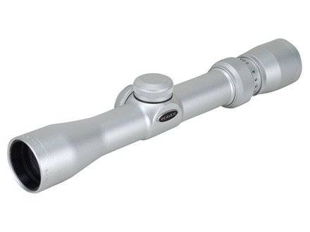 Weaver Classic Pistol Scope 2.5-8x 28mm Dual-X Reticle Silver