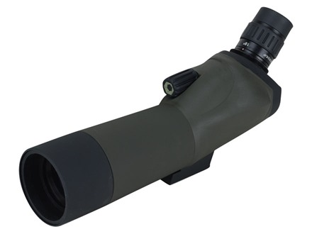 Barska Blackhawk Spotting Scope 18-36x 50mm Angled Body with Tripod and Soft Case Rubber Armored Green