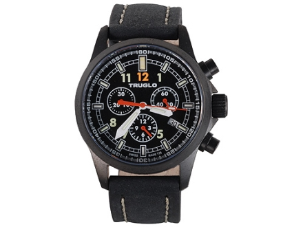 TRUGLO Denali Chronograph Watch Black Case
