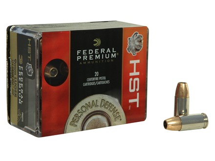 Federal Premium Personal Defense Ammunition 9mm Luger 124 Grain HST Jacketed Hollow Point Box of 20
