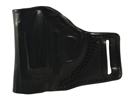 DeSantis L-Gat Slide Outside the Waistband Holster Left Handed S&W J 36, 37, 60, 317, 331, 337, 360, Bodyguard Leather Black