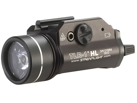 Streamlight TLR-1 HL Tactical Illuminator Flashlight White LED Fits Picatinny or Glock-Style Rails Aluminum Matte
