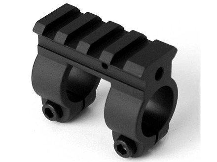 "Yankee Hill Machine Gas Block Single Picatinny Rail AR-15, LR-308 Standard Barrel .750"" Inside Diameter Steel Matte"