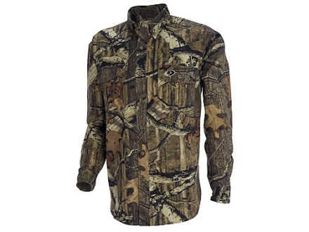 Russell Outdoors Mens Explorer Shirt Long Sleeve Cotton Polyester Blend
