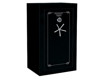 Stack-On Premier 40-Gun Fire-Resistant and Waterproof Safe with UL Rated Electronic Lock High Gloss Black