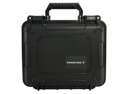 "Condition 1 101184 Hard Pistol Case 9"" x 7"" x 4"" Black"